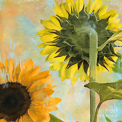 Soleil II Sunflower Art Print by Mindy Sommers