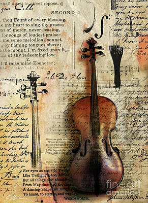 Cello Digital Art - Soli Deo Gloria by Gary Bodnar