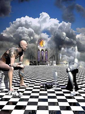 Surreal Art Digital Art - Solitaire by ML Walker
