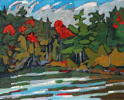 Beaver Lake Painting - Solitaire Shore by Phil Chadwick