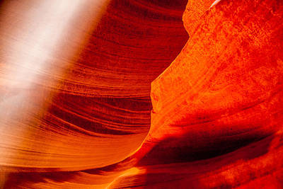 Antelope Wall Art - Photograph - Solitary Beam by Az Jackson