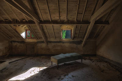 Photograph - Solitary Bed Under The Roof  - Letto Solitario Sotto Il Tetto by Enrico Pelos