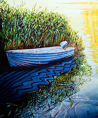 Painting - Solitary Boat by Michel Angelo Rossi