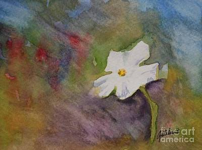 Solitary Flower Art Print by Gretchen Bjornson