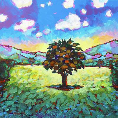 Wall Art - Painting - Solitary Oak by Charles Wallis