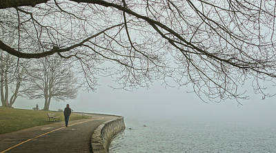 Photograph - Solitary On The Seawall by Cameron Wood