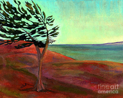 Wall Art - Painting - Solitary Pine by Claire Bull