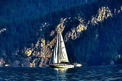 Solitary Sailing Art Print by Raven Deel