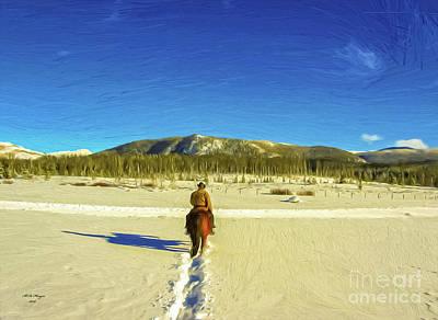 Digital Art - Solitude 3 by Bill And Deb Hayes
