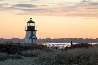 Brant Point Photograph - Solitude At Brant Point Light Nantucket by Henry Krauzyk
