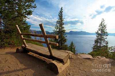 Crater Lake View Photograph - Solitude At Crater Lake by Adam Jewell