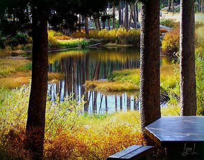 Solitude At Donner Pass Art Print by S Lynn Lehman