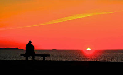 Solitude At Sunrise Art Print