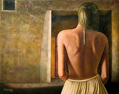 Nude Back Painting - Solitude by Horacio Cardozo