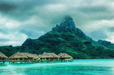 Solitude In Bora Bora Art Print