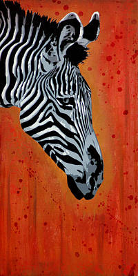 Zebra Patterns Painting - Solitude In Stripes by Tai Taeoalii