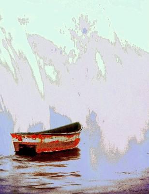 Rowboat Digital Art - Solitude by Jeff Gibford