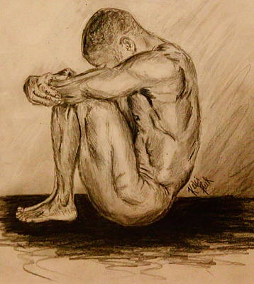 Simplicity Drawing - Solitude by Kelci Pauk