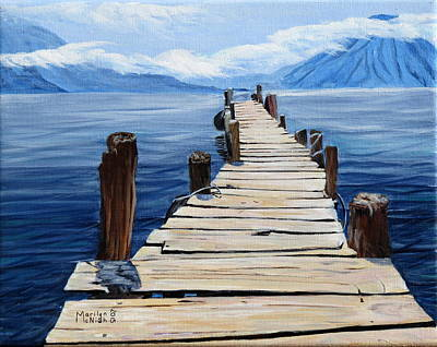 Crooked Dock  Art Print