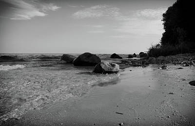Photograph - Solitude On The Beach As Day Ends by Janice Adomeit