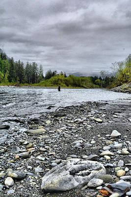 Solitude On The River Art Print