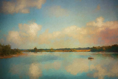 Painting - Solitude On The Tennessee River by Jai Johnson