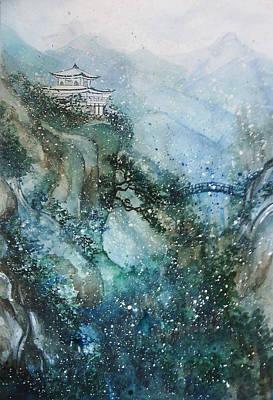 Rain Drawing - Solitude by Rera Kryzhnaya