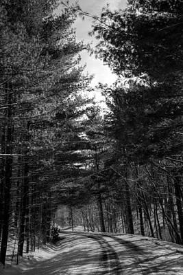 Winterscape Black And White Photograph - Solitude  by Scott Bryan