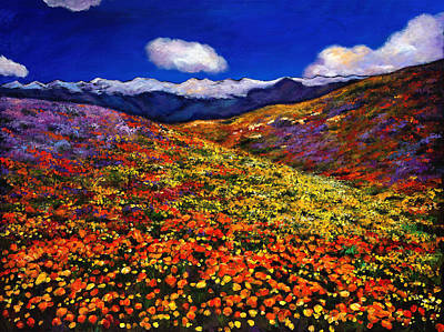 Desert Flower Painting - Solitude Under Azure Skies by Johnathan Harris