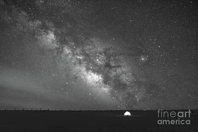 Solitude Under The Stars Bw Art Print