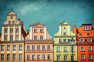 Town Square Wall Art - Photograph - Solny Square Wroclaw Poland by Carol Japp