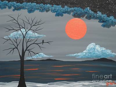 Painting - Solo Evening In Gray by JoNeL Art
