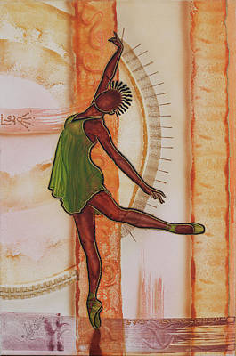 Solo Dancer Painting - Solo In Green by Fred Odle