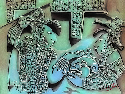 Mayan Mixed Media - Solo Maya Ab  by Dancin Artworks