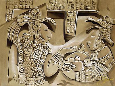 Mayan Mixed Media - Solo Maya Au by Dancin Artworks