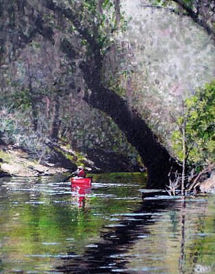 Solo On The Suwannee Art Print by Bill Brown