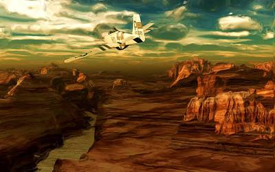Digital Art - Solo Over Canyon Country by David Lane