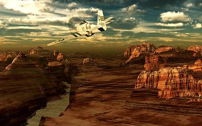 Digital Art - Solo Over Canyon Country II by David Lane
