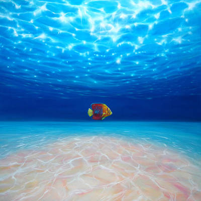 Underwater View Painting - Solo Under The Sea by Gill Bustamante