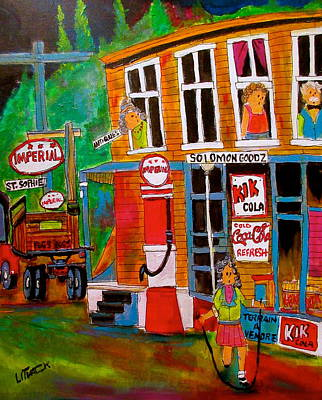 Litvack Painting - Solomon Goodz Business In St. Sophie by Michael Litvack