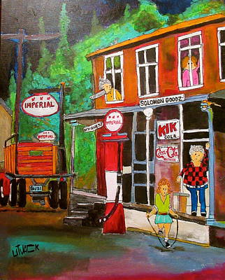 New Glasgow Painting - Solomon Goodz General Store St. Sophie by Michael Litvack