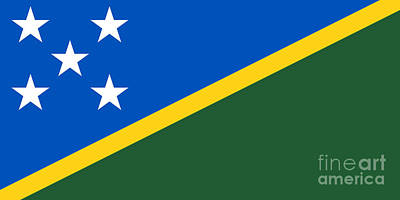 Solomon Islands Flag Art Print by Frederick Holiday