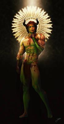 Human Beings Digital Art - Solomon's Clavicle Bucon by Joaquin Abella