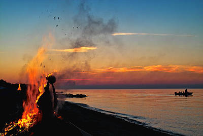 Scandanavia Photograph - Solstice Bonfire by Robert Lacy