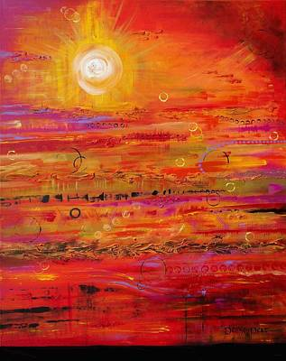 Solar Eclipse Painting - Solstice by Denise Peat