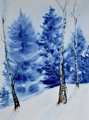 Painting - Solstice Snow by Beverley Harper Tinsley