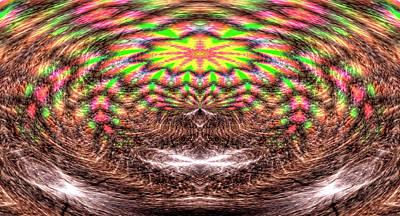 Digital Art - Solstice Star Abstract by Aliceann Carlton