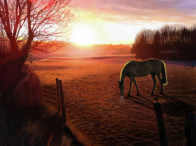 Digital Art - Solstice Sunrise by Nigel Follett