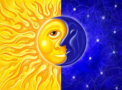 Digital Art - Soltice Sun  Moon by David Kyte