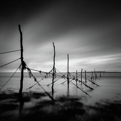 Photograph - Solway Firth Fishing Nets by Dave Bowman